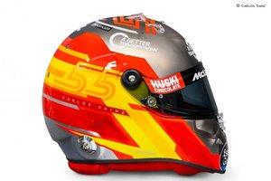 Este es el nuevo casco de Carlos Sainz para 2020