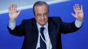 Florentino promete un nuevo estadio y grandes fichajes, pero nadie sabe dónde está el dinero