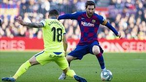 El Getafe hizo 29 faltas en el Camp Nou