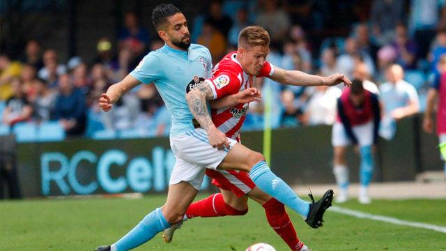 El Girona pierde un duelo directo ante el Celta