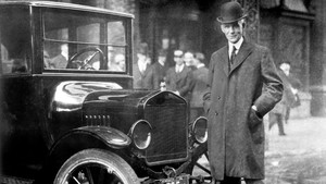 Henry Ford, con el Model T
