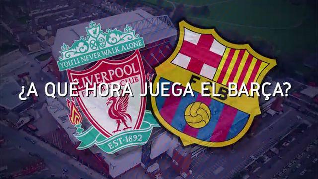 Horario mundial del Liverpool - FC Barcelona