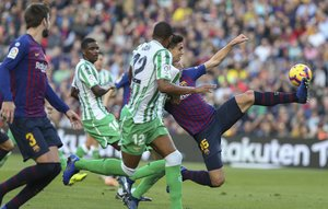 Imagen del Barça-Betis en el Camp Nou
