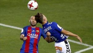 Javier Mascherano terminó lesionado tras golpe en la cabeza hace algunos meses