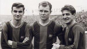 Kocsis, Kubala y Czibor jugaron en el Ferencvaros antes de recalar en el Barça
