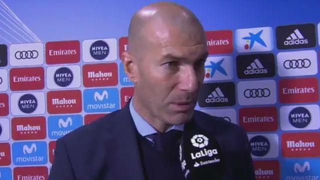 LALIGA | Real Madrid - Getafe (3-1): Zidane: No me voy a meter con el árbitro, pero no vi penalti