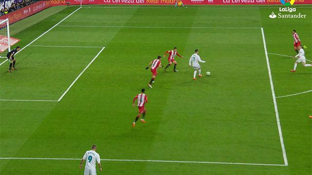LALIGA | Real Madrid - Girona (6-3): El gol de Lucas Vázquez