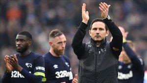 Lampard agradeció el apoyo de la afición del Derby County pese a le eliminación copera