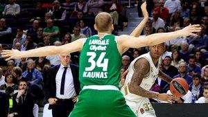 Landale, en un duelo ante el Madrid