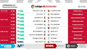 Calendario Betis 2020.Dates And Times Have Been Revealed For The First Three Laliga Fixtures