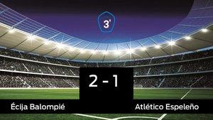Los tres puntos se quedaron en casa: Écija Balompié 2-1 Atlético Espeleño