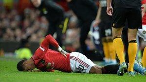 Marcus Rashford se lastimó la espalda en la FA Cup contra el Wolverhampton