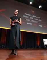 Ona Carbonell después de recoger su premio.