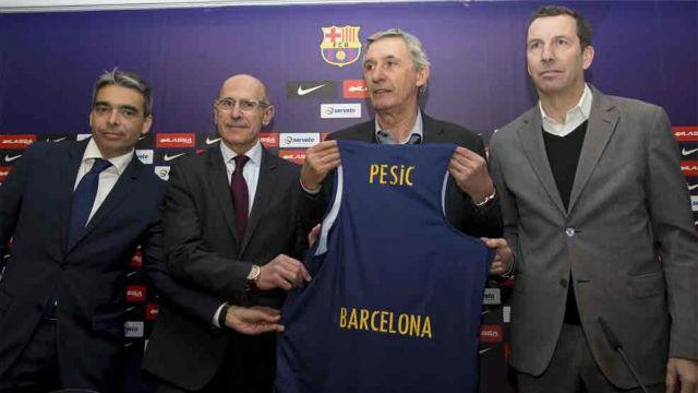 Pesic, presentado como nuevo entrenador del Barça Lassa