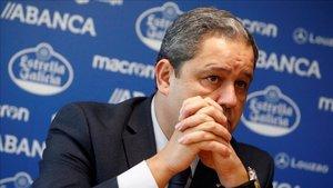 El presidente del Deportivo de La Coruña, Tino Fernández