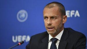 El presidente de la UEFA analizó el escenario actual