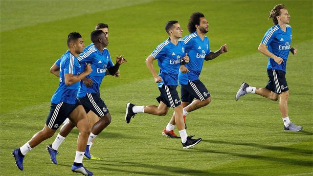 La puesta a punto del Real Madrid para la final del Mundialito