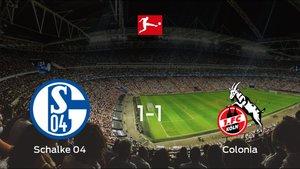 El Schalke 04 y el Colonia consiguen un punto tras empatar a uno