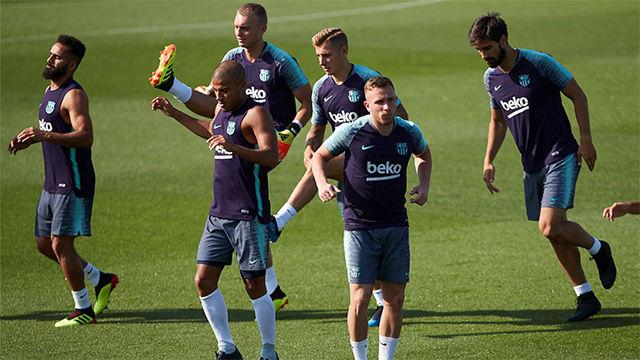 Segundo entrenamiento de Arthur con el Barça