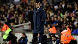 Valverde vivió un partido tranquilo