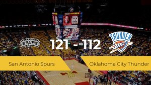 Victoria de San Antonio Spurs en el At&T Center ante Oklahoma City Thunder por 121-112