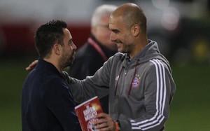 Xavi y Guardiola, en Doha