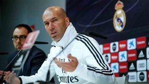 Zidane realiza la rueda de prensa previa al Real Madrid - Athletic