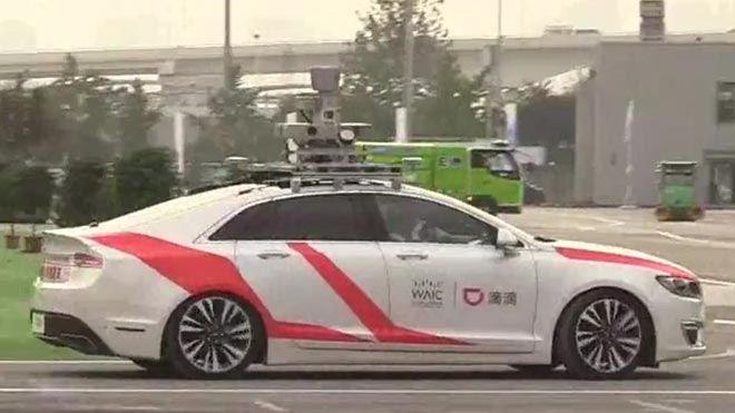 Robotaxis, taxis sin conductor en la China