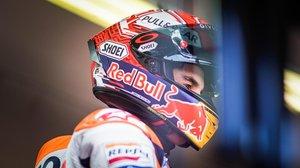 El catalán Marc Márquez (Honda), al concluir el GP de Misano, donde logró su séptima victoria del año.