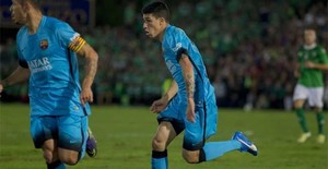 Aitor Cantalapieda, el último jugador del filial que ha debutado con Luis Enrique Martínez