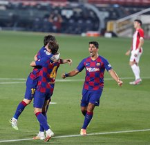 El Barcelona empata en puntos con el Real Madrid ante el liderato de la liga