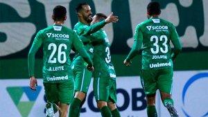 El Chapecoense celebra un gol hace un par de días