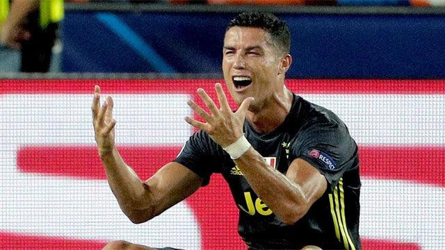 Cristiano se marchó de Mestalla llorando tras ser expulsado