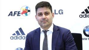 David Aganzo, presidente del sindicato de futbolistas