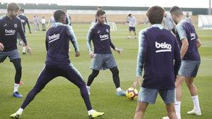 El entrenamiento del Barça del 14 de noviembre de 2018