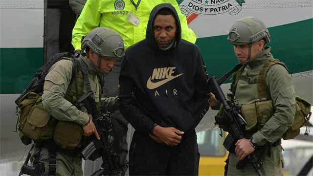 Exfutbolista colombiano preso Jhon Viáfara, acusado de pagar a quienes transportaban droga
