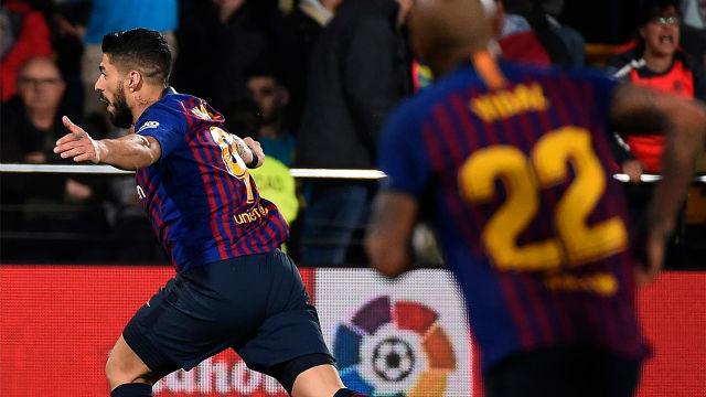 ¡Un gol que vale media liga! La volea imparable de Suárez que acerca al Barça al título