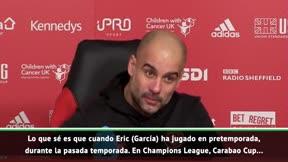 Guardiola se deshace en elogios con Eric García