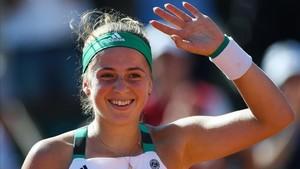Jelena Ostapenko jugará su primera final de Grand Slam con 20 años