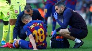 Jordi Alba volvió a lesionarse ante el Getafe