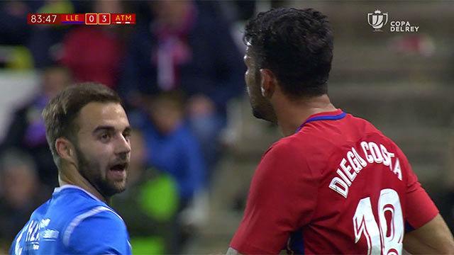 LACOPA | Lleida - Atlético Madrid (0-4): Pique con Diego Costa
