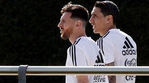 Leo Messi y Ángel di María tienen una muy buena amistad