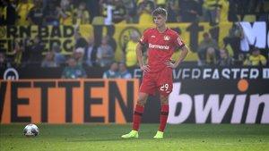El Leverkusen llega a su encuentro ante el Lokomotiv tras perder 4-0 en Dortmund