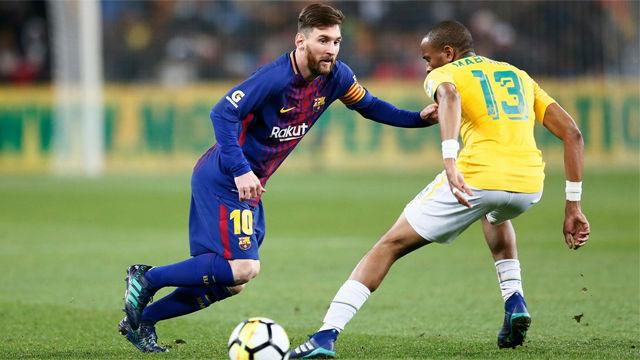 Los aficionados del Sundowns no se quedaron sin ver a Leo Messi