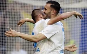 Lucas Pérez y Iago Aspas, celebrando el gol de Galicia