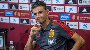 Luis Enrique Martínez, seleccionador español, en rueda de prensa