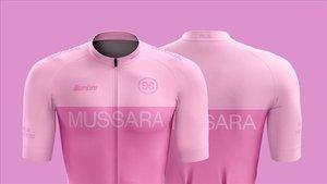 La marca italiana Santini es la encargada de fabricar el maillot