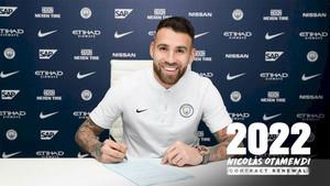 Otamendi renovó su contrato hasta 2022