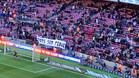 La pancarta de apoyo a Piqué