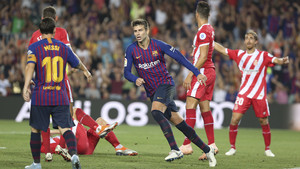 Partido de Liga de Primera División Jornada 05 FC Barcelona 2 - Girona 2